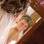 Coeur d'Alene Idaho accommodations - the bride poses in the mirror