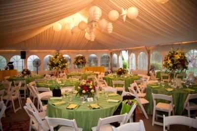 The wedding reception venue
