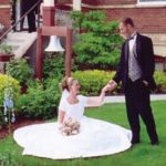 Coeur d'Alene weddings, the bride and groom pose for a portrait