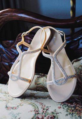 The bride sandals