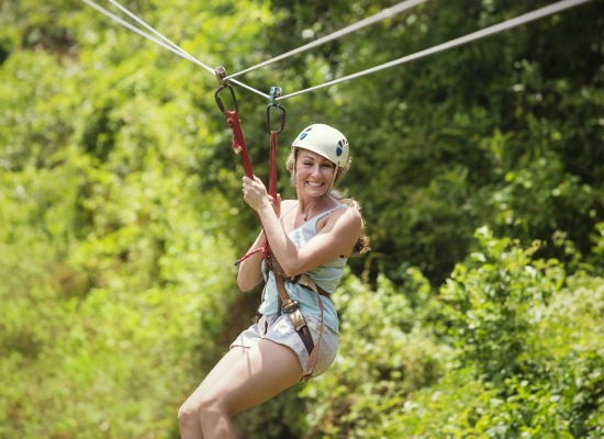 Go on a zip lining adventure on a Coeur d'Alene vacation