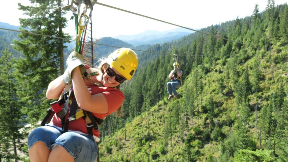 Zipline in North Idaho